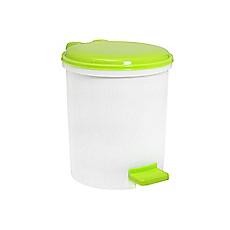 Papelero baño 5 litros con pedal verde Cotidiana