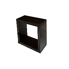 Repisa 36 x 36 x 18 cm cubo chocolate Cotidiana