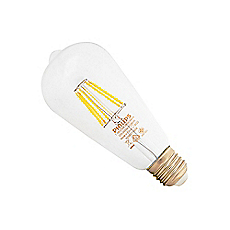 Ampolleta LED Filament  7,5-70W E27 Luz Cálida Philips