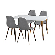 Comedor 4 sillas Crispín blanco M+Design - Easy.cl