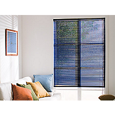 Persiana pvc 25 mm 60 x 90 cm azul Cotidiana basic