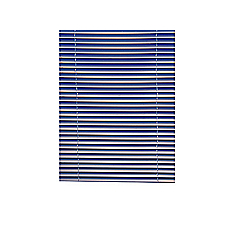 Persiana pvc 25 mm 140 x 165 cm azul Cotidiana basic