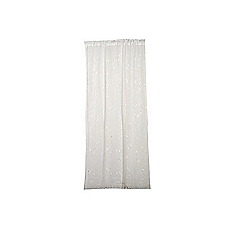 Set velo bordado 145 x 230 cm blanco Cotidiana basic