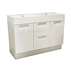 Mueble vanitorio cubierta marmolina 120 x 49 x 87 cm Cotidiana basic