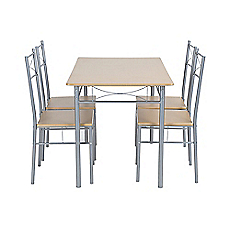 Comedor 4 sillas Basic bamboo M+Design - Easy.cl