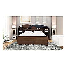 Cama premium 2 plazas con cajones nogal negro decocasa for Ofertas terrazas easy