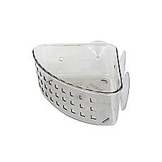 Canasto esquinero mediano para baño blanco Interdesign 2a0e8889528e