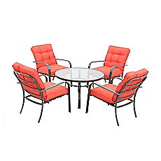 Set terraza mesa 4 sillas manhattan aluminio outzen for Easy terrazas chile