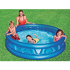Piscina inflable redonda soft side 188x46 cm intex for Alfombras redondas chile